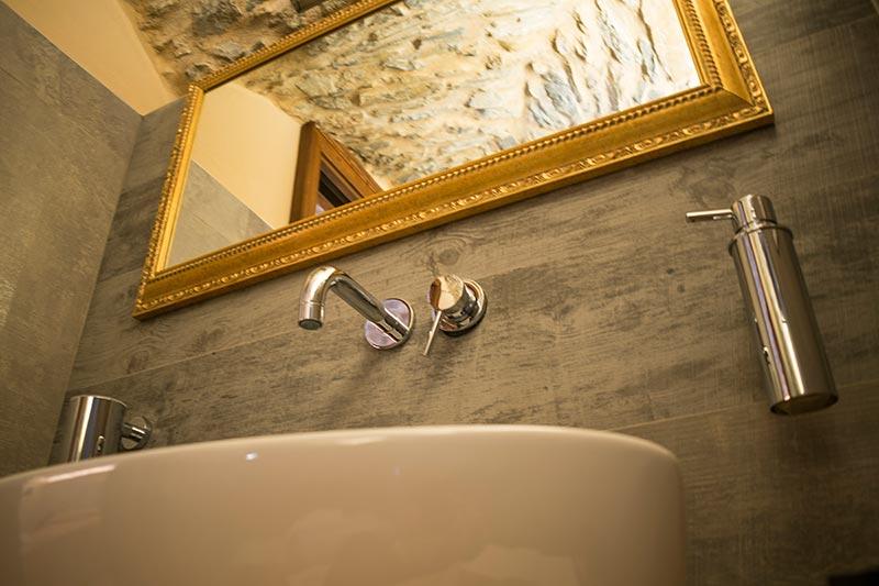 Camera con bagno dell'albergo diffuso Ca' del Grano
