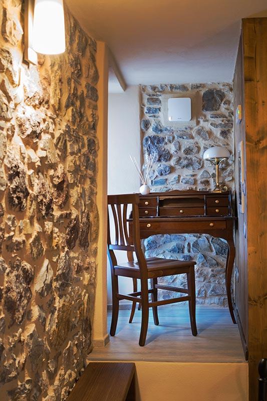 Il Cantastorie double bedroom of the widespread hotel Ca' del Grano Parma