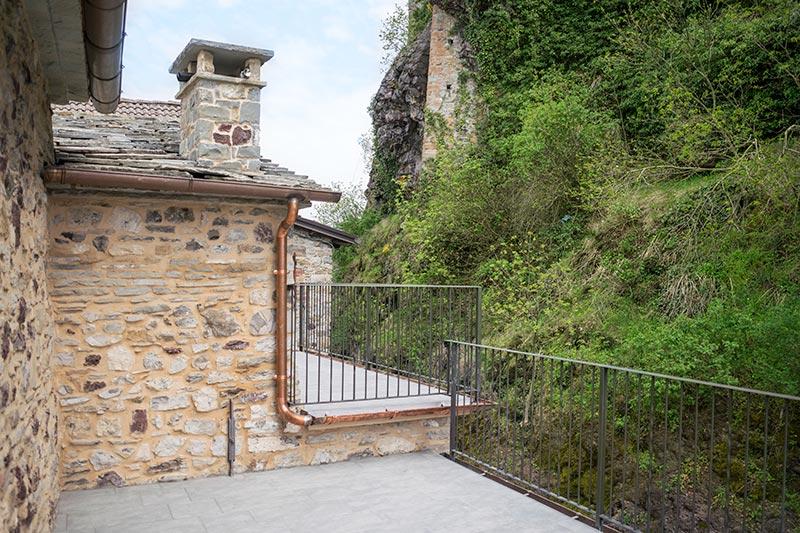Terrazza sul castello di Bardi di Ca' del Grano
