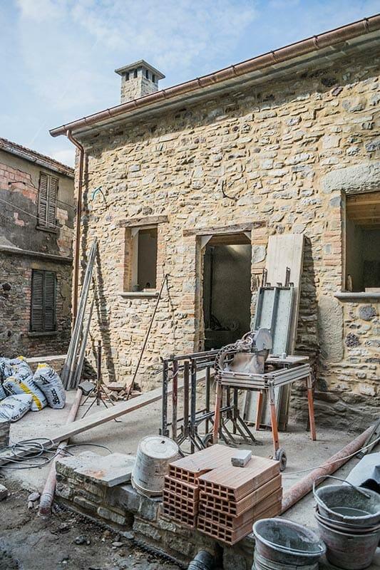 Construction of Ca' del Grano Widespread Hotel of Parma