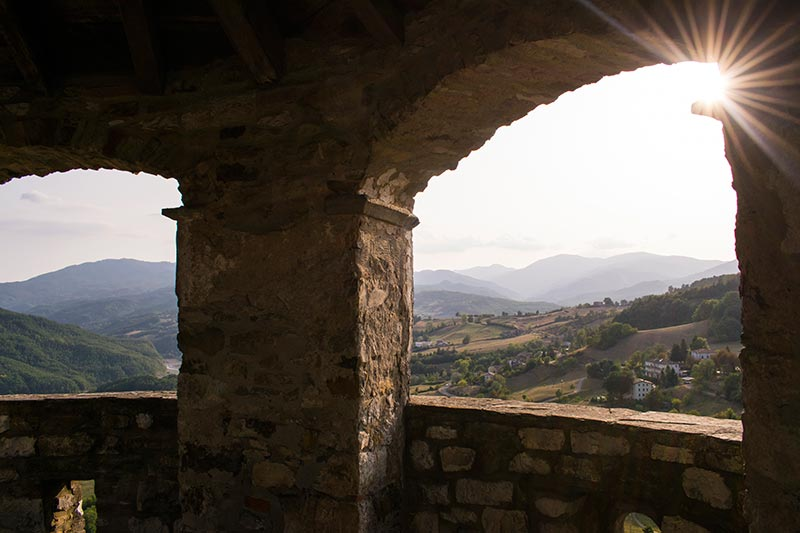 Sunset from Bardi castle