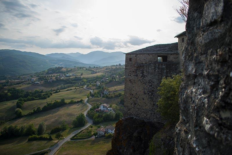 Bardi fortress in province of Parma